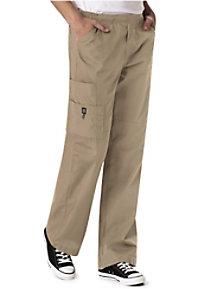 WonderWink mens 6-pocket flat front cargo scrub pant.