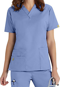 WonderWink Origins Bravo v-neck scrub top.