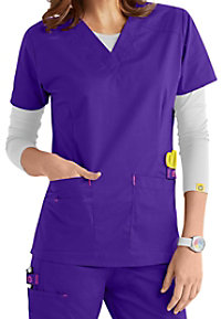 WonderFlex Verity Stretch v-neck scrub top.