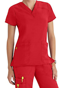 WonderWink 4-Stretch V-Neck Scrub Top