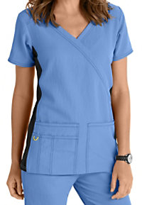 WonderWink 4-Stretch Knit Panel Scrub Top