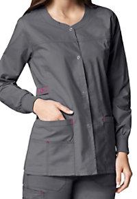 WonderFlex Constance snap scrub jacket.
