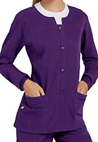 WonderWink Four-Stretch Button Front Scrub Jackets