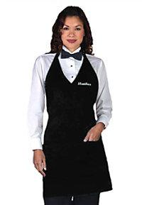 Fame V-Neck Tuxedo Style Apron