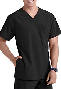 Barco One Men's 4-pocket V-neck Scrub Tops
