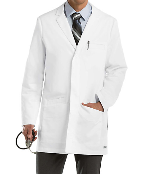 Greys Anatomy mens 35 inch 6-pocket lab coat. | Scrubs & Beyond