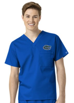 WonderWink Collegiate Florida Gators Unisex V-Neck Scrub Top