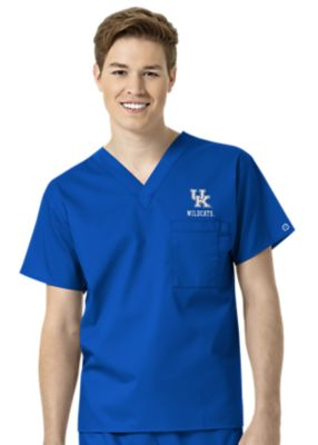 WonderWink Collegiate Kentucky Wildcats Unisex V-Neck Scrub Top