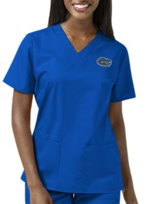 WonderWink Collegiate Florida Gators Women's V-Neck Scrub Top