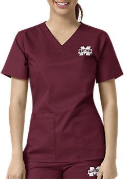 e3428388382 Grey s Anatomy Signature 3 Pocket Criss Cross V-neck Scrub Tops ...