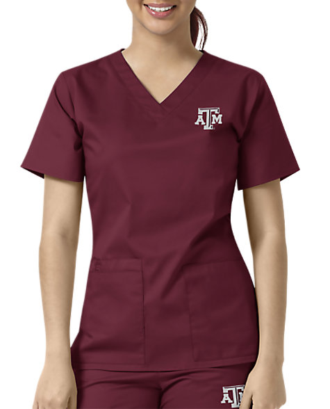 new styles bc084 17e56 Texas A&M Aggies V-Neck Top