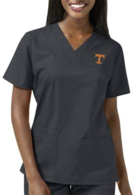 WonderWink Collegiate Tennessee Volunteers Women's V-Neck Scrub Top