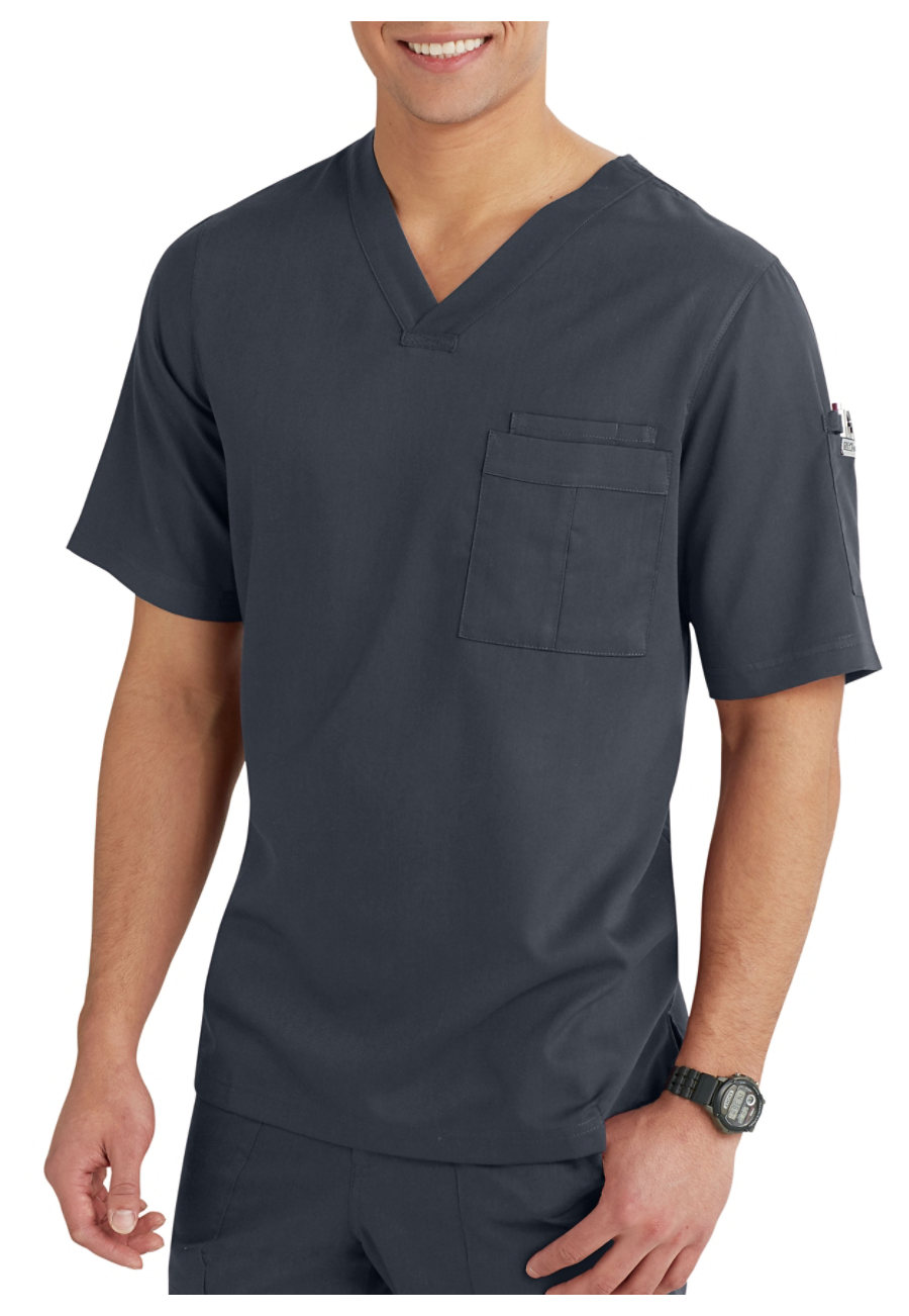 Grey\'s Anatomy Men\'s V-neck Scrub Tops | Scrubs & Beyond