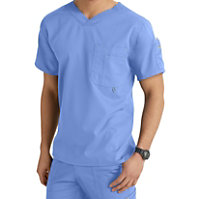 Grey's Anatomy Men's 3 Pocket V-neck Tops
