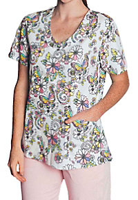 Tasha and Me Color Me Pretty V-neck Print Scrub Tops