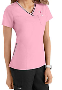 Koi Ashley Contrast Trim Scrub Tops