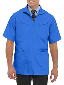 Professional Short Sleeve Zip Front Jacket