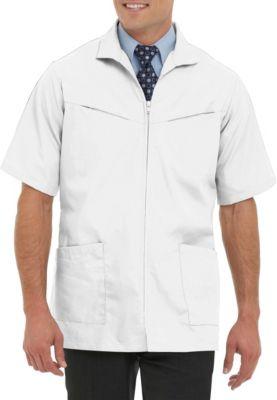 Professional Short Sleeve Zip Front Jacket