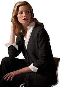 Edwards Garment Ladies  Long V-neck Cardigan
