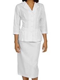 Abigail 3/4 Sleeve Embroidered Collared Dress Suit