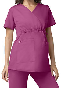 WonderWork Maternity Mock Wrap Scrub Tops