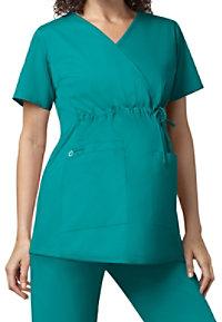 a3318fd390e See Details item #145 · WonderWork Maternity Mock Wrap Scrub Top