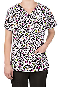 Bonita Wild At Heart Print Scrub Tops