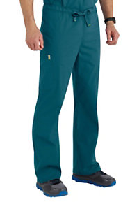 Code Happy Men's Drawstring Cargo Scrub Pants With Certainty