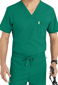 Code Happy Men's V-neck Scrub Tops With Certainty