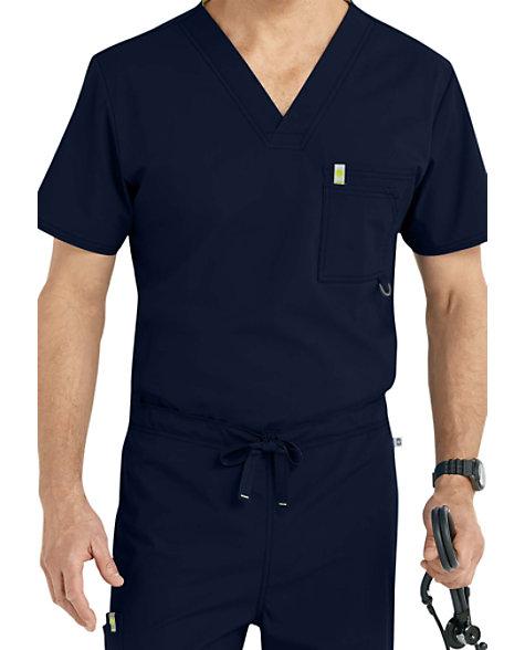 f3d2882db6b Code Happy Men's V-neck Scrub Tops With Certainty   Scrubs & Beyond