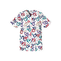 Cherokee Heartbeat Snap Front Print Tops