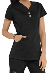 Koi Justine Button Trim Scrub Tops