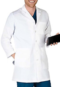 Natural Uniforms Men's 40 Inch Long Lab Coats