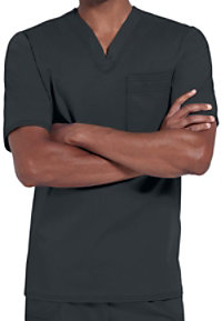 Cherokee Luxe Men's One Pocket V-neck Scrub Tops