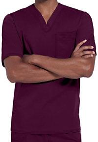 Cherokee Luxe Men's One Pocket V-neck Scrub Tops