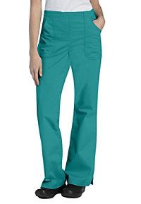 Landau For Women Drawstring Natural Fit Flare Scrub Pants