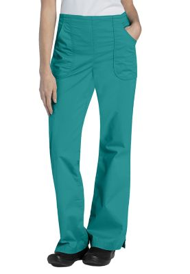 Landau For Women Drawstring Natural Fit Flare Scrub Pants