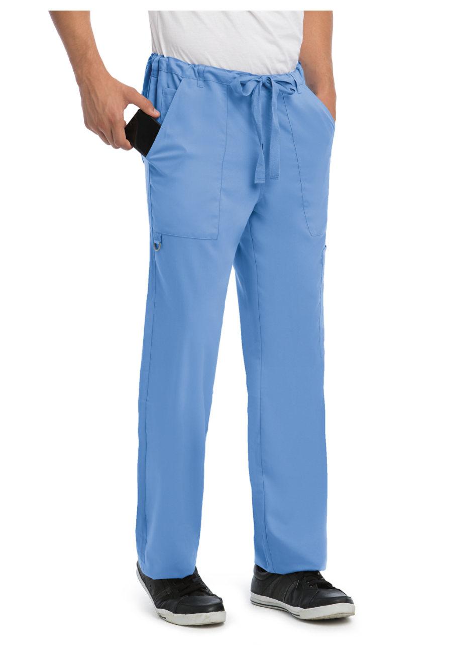 Grey\'s Anatomy Men\'s 6 Pocket Drawstring Waist Scrub Pants   Uniform ...