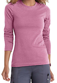 Beyond Scrubs Micro Stripe Long Sleeve Underscrub Tees