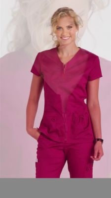 00d452efd1f prev. next. Product Video; Koi Stretch Mckenzie Zip Neckline Scrub Tops