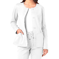 HeartSoul Button Front Scrub Jackets With Certainty