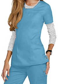 HeartSoul Serenity 3-pocket V-neck Scrub Tops