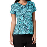 HeartSoul Wild You Were Out Turquoise Print Tops