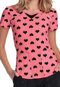 HeartSoul Heart 2 Forget U Coral Cove Print Scrub Tops