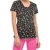 HeartSoul You Skull My Heart V-neck Print Tops