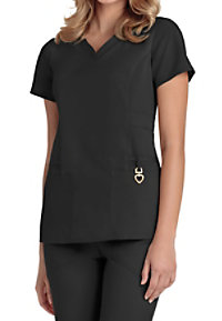 HeartSoul Beloved V-neck Scrub Tops With Certainty
