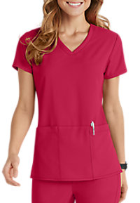 Grey's Anatomy Signature 3 Pocket Criss Cross V-neck Scrub Tops