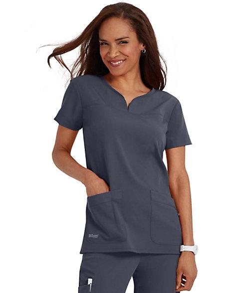 119c750d63d Grey's Anatomy Signature Notch Neck 2 Pocket Scrub Tops | Scrubs ...