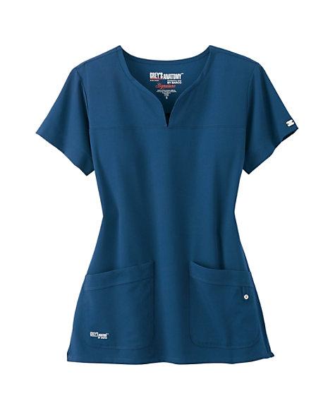 5995f276db5 prev. next. Product Video; Product Video; Grey's Anatomy Signature 2 Pocket  Notch Neck Scrub Top ...