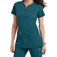 Grey's Anatomy Signature Notch Neck 2 Pocket Tops